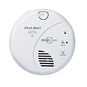 first alert sa520b smoke alarm wireless 120v hardwired interconnectable onelink w. Black Bedroom Furniture Sets. Home Design Ideas