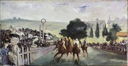 Posterazzi Races at Longchamp 1866 Edouard Manet (1832-1883 French) Oil on canvas Art Institute of Chicago Illinois USA Poster Print (24 x 36)