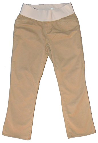 Maternity Crop Twill Pant (GAP Maternity Khaki Crop Kick Stretch Demi Panel Pants 6)