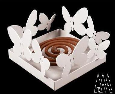 Arti E Mestieri Porta Zampironi.Porta Zampironi Da Tavolo Mod Butterfly Arti E Mestieri Bianco