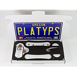The Platypus License Plate Mount for MINI Cooper (F56) 2014-2018 WITHOUT Parking Sensors | No Drilling | Installs in Seconds | Made of Stainless Steel & Aluminum | Made in USA