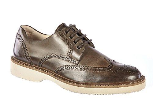 Hogan chaussures habillées classiques homme en cuir derby h217 route gris
