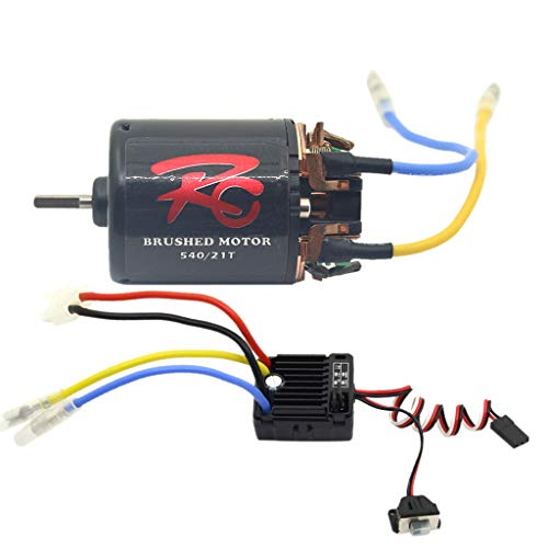 - TANGON 540 Brushless Motor 60A Waterproof Brushless Electronic Speed Controller ESC Combo Set Upgrade Power System Combo for RC Rock Crawler (B)