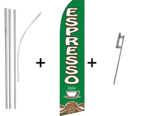 Espresso Quantity 3 Super Flag & Pole Kits