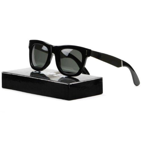 Super Ciccio 767 Sunglasses Silver Francis Black w/ Zeiss Lens - Francis Sunglasses Super