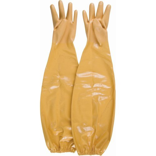 SHOWA Atlas 772 Nitrile Coated Glove, Cotton Interlock Liner, Chemical Resistant, 26 Length, Large (Pack of 12 Pairs) by Showa Best Glove