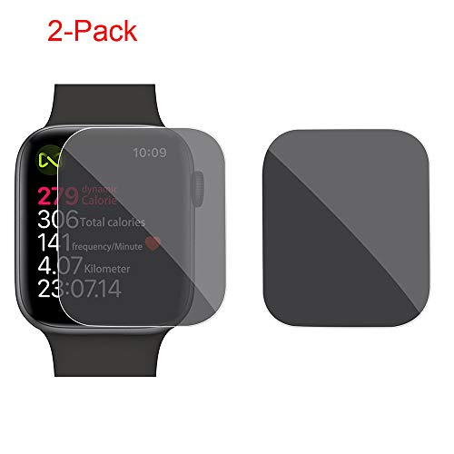 Sikye 2pc 40mm 44mm Privacy Anti-Spy TPU Screen Protector Film for Apple Watch Series 4 Smart Watch (40mm)