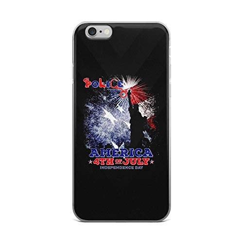 iPhone 6 Plus/6s Plus Pure Clear Case Cases Cover Police and Liberty of Statue American Flag Independence Day Patriotic Animal 4th of July USA