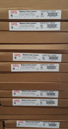 """GPQ Bakery Pan Liners: 16 3/8"""" X 24 3/8"""" (1000 Sheets/case)"""