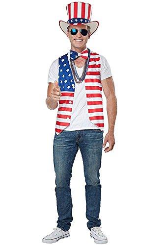 (California Costumes Men's Patriot Man Kit Adult Woman Costume, red/Blue/White)