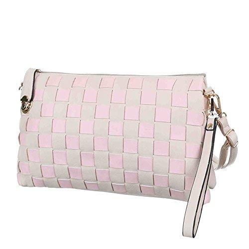 Ital-DesignAbendtasche bei Ital-Design - bolso de noche Mujer Beige - Creme Rosa