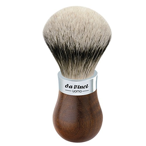 da Vinci Shaving Series 299 UOMO Silvertip Shaving Brush, Badger Hair with Kebony Wood Handle, 22mm, 57 Gram by da Vinci Brushes