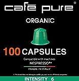 100 count nespresso pods - COFFEE NESPRESSO COMPATIBLE Capsules -Cafe Pure- For all NESPRESSO original line Machines, PACK of 10 Pods. 100 Pods. Made in ITALY (100, Organic)