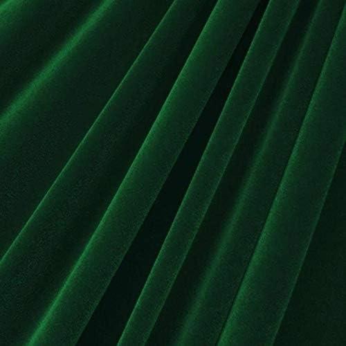Hunter Green Velvet Flocking Drapery Upholstery Fabric - Sold By The Yard - 60 / Hunter Green Velvet Flocking Drapery Upholstery Fabric - Sold By The Yard - 60