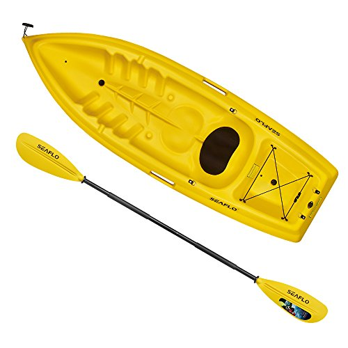 Seaflo-8-Stable-Parent-kid-2-Person-Sit-On-Top-Kayak-with-Afloating-Paddle