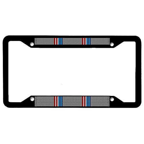 URCustomPro Vermont National Guard Good Conduct Ribbon Black Stainless Steel License Plate Frame, Personalized Military Auto Tag Holder, Car Tag Frame, Novelty Car Tag Holder