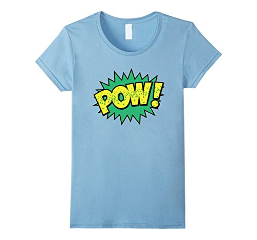 Womens POW! Vintage Superhero Comic Book Sound Effect Tsh...