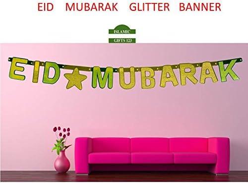 EID MUBARAK FOIL Glitter 24 Banner Muslim Islamic Gift عيد مبارك Ramadan Gift!!!