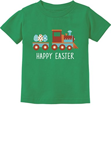 Easter Egg Hunt Kids Gift Happy Easter Train Toddler/Infant Kids T-Shirt 6M Green ()