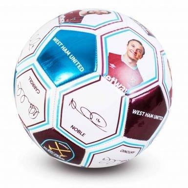 Reproductor de West Ham United fotos y firma balón de fútbol ...
