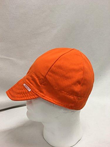 Comeaux Caps Reversible Welding Cap Solid Orange Size 7 1/8