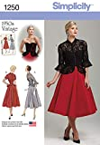 Simplicity Creative Patterns 1250 Misses' Vintage 1950's One Piece Dress and Jacket