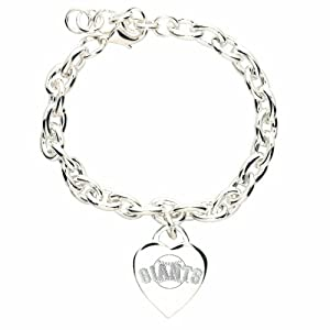MLB San Francisco Giants Heart-Charm Bracelet