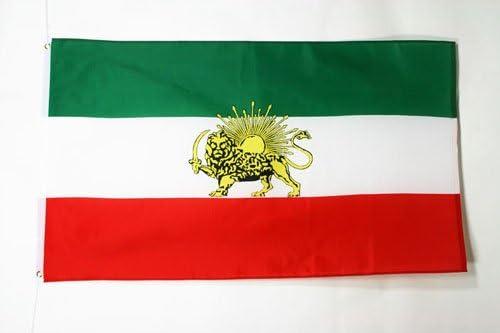 AZ FLAG Bandera de IRÁN Antigua 150x90cm - Bandera IRANÍ Antigua 90 x 150 cm: Amazon.es: Hogar