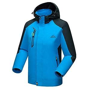 TBMPOY Men's Outdoor Hooded Sportswear Windbreaker Waterproof Windproof Rain Jacket