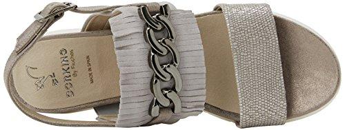 Fluchos Eclisse, Sandalias con Punta Abierta Para Mujer Gris (Gray)