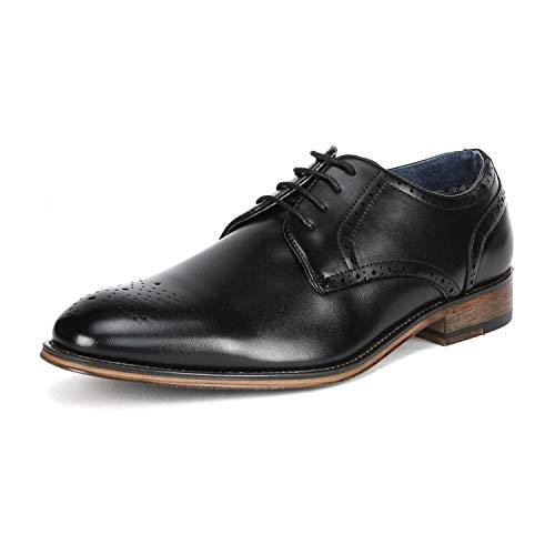 Bruno Marc Men's Louis_3 Black Lace Up Soft Round-Toe Oxfords Formal Dress Shoes Size 8 M US