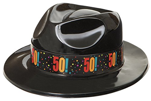 Birthday Cheer 50th Birthday Gangster Hat - 50s Mafia Costume