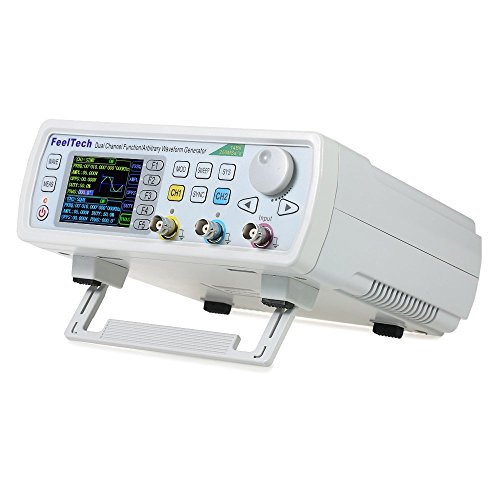 Adoner FY6600 60MHz Dual Channel High Precision DDS Arbitrary Signal Waveform Generator Counter, 2.4in Screen Display,250MSa/s, 819214bits,Frequency meter, VCO, Burst, Modulation Function