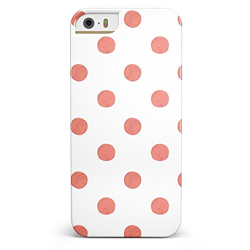 The Red and White Polka Dot Pattern iPhone 5/5s or iPhone SE - Ultra High Gloss INK-Fuzed Case (Iphone 5 Polka Dot Case)