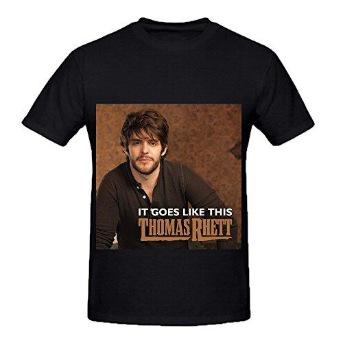 Thomas Rhett It Goes Like This Greatest Hits Mens O Neck Printed T Shirts Black