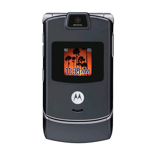 Motorola V3c Razr Cell Phone, Camera, Bluetooth, for Cricket (Gray)