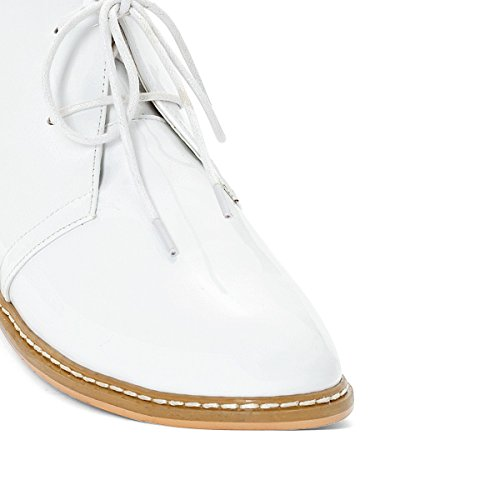 La Redoute Collections Frau Desert Boots in Lackoptik Gre 42 Weiss