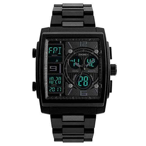 (Men's Military Tactical LED Waterproof Analog Quartz Sport Watch Electronic Watch Digital Watch Gifts Men's Wrist Luminous Watch,A)
