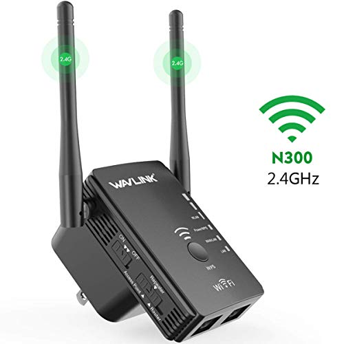 Updated Version 2.4G 300Mbps WiFi Extender, WAVLINK Wi-Fi Range Extender Repeater/Wireless Access Point/Router 3 in 1, Internet Signal Booster WiFi Amplifier for Whole Home WiFi Coverage