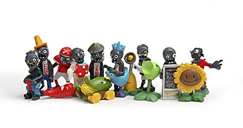 Amazon.com: 40pcs/set Plants vs Zombies PVC Action Figures 4-8cm Plants Zombies Collection Model Toys Gifts for Children: Toys & Games