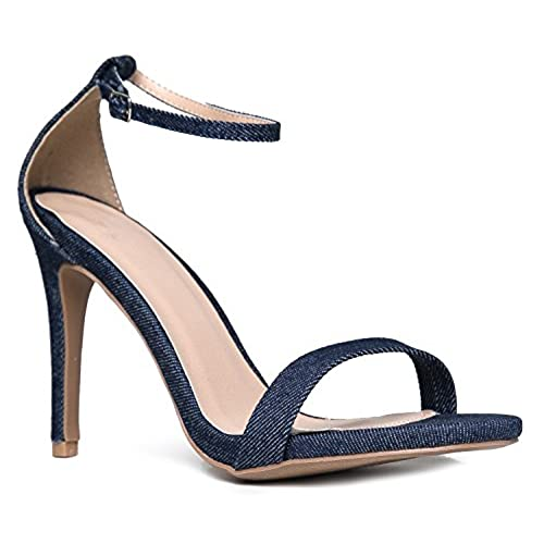 5685f6987463 ... J Adams low-cost. Ankle Strap High Heel Sandal - Strappy Buckle Shoe  -Dress Wedding Party Bridal Pump -