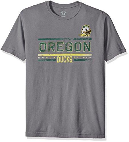 Blue 84 NCAA Oregon Ducks Men's Dyed Tee, Titanium, Large (Mens Shorts Oregon)