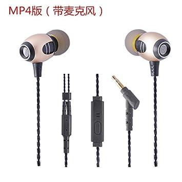 Hacer oídos sordos al hierro los auriculares deportivos auriculares de teléfono , Oro: Amazon.es: Electrónica