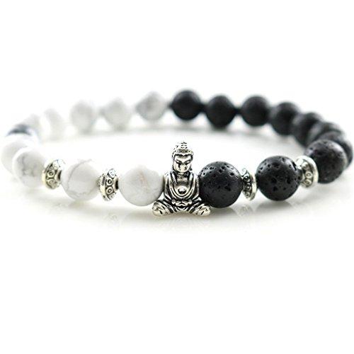 Natural Stones Silver Lion Charm Bracelets Trendy Handmade Design Men's Fashion Bracelets & Bangles Women's Jewelry - Glasses Broken Fix Arm