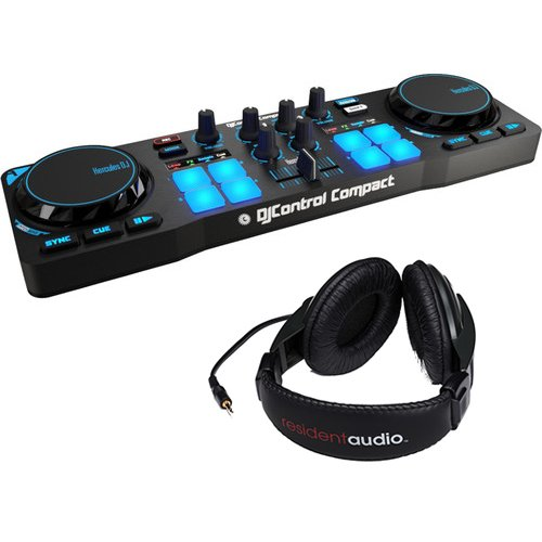 - Hercules DJControl Compact DJ Software Controller with R100 Stereo Headphones