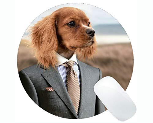 - Round Mouse pad,Dog Puppy Young Dog Cute Small Dog Pet Gaming Mouse pad