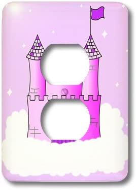 3dRose lsp/_24630/_6 Outlet Cover Pink//Purple