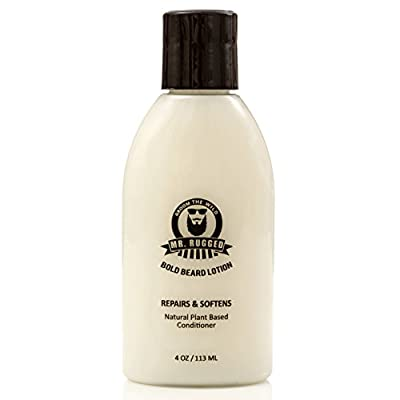 Mr. Rugged Beard Lotion Conditioner - Repair, Soften & Protect Facial Hair with This Luxurious Beard Conditioner - Supports Healthy Beard Growth - Paraben & Sodium Chloride Free - Works Better Than Beard Oils or Beard Balms - Satisfaction Guaranteed