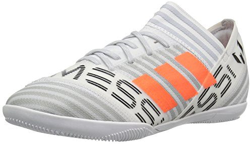 adidas Performance Boys' Nemeziz Messi Tango 17.3 In J Soccer Shoe, White/Solar Orange/Black, 1 Medium US Little Kid