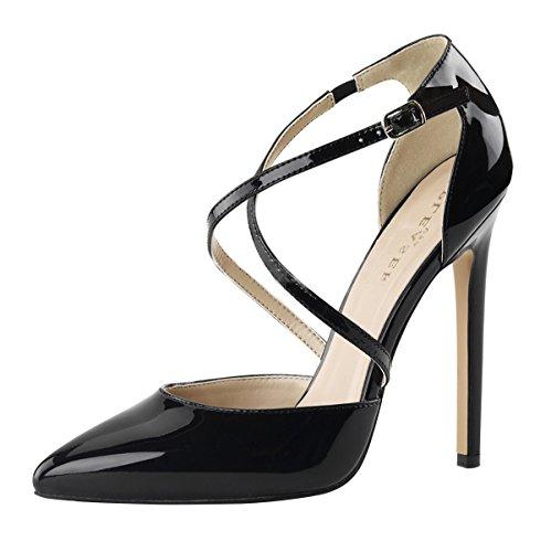 High Heels Pumps, Damen, Schwarz (schwarz) Schwarz (Schwarz)